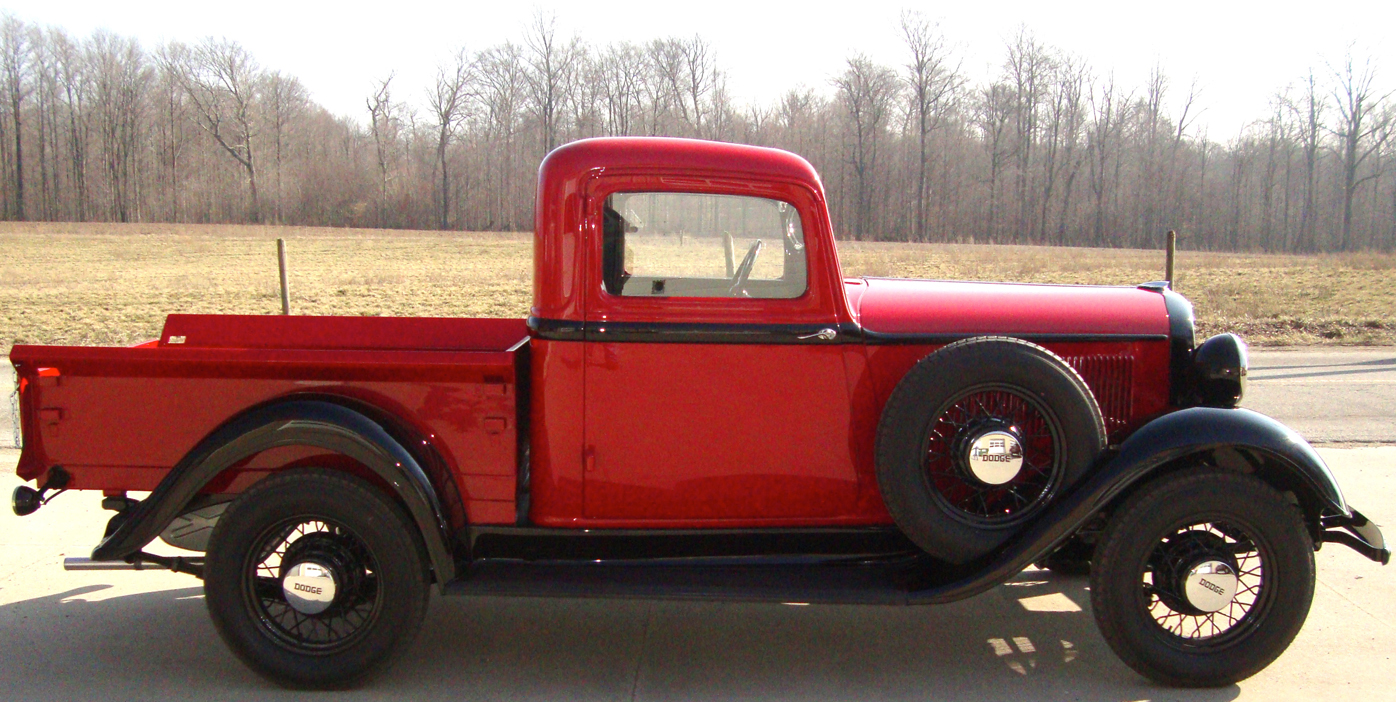 When paired together this 1934 pickup and it s larger brother the 1933 dodge tow truck pique the interest of any truck collector