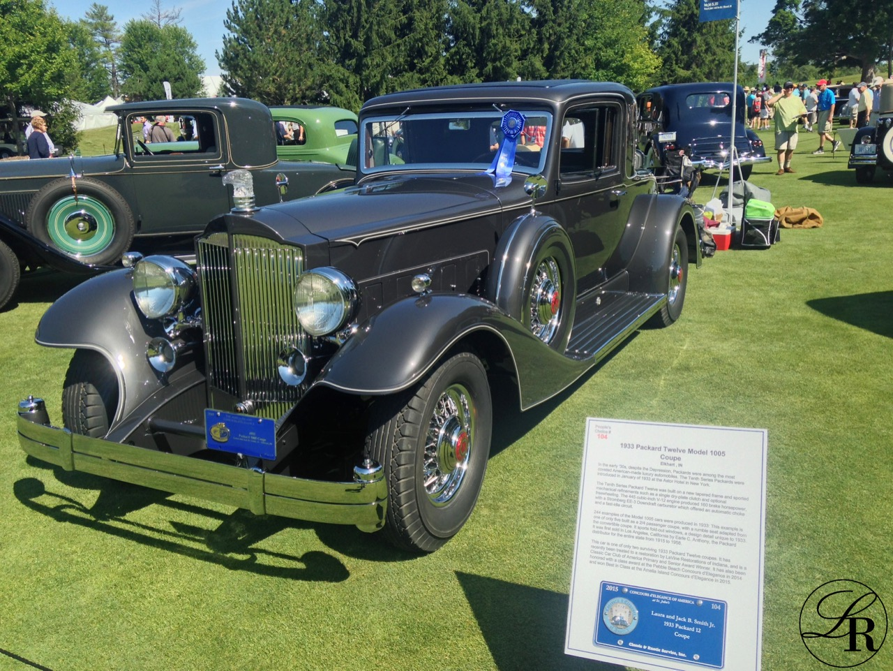 This LaVine Restorations restored 1933 Packard Model 1005 12 Cylinder Coupe took Best in Class in the American Classic Closed Class.