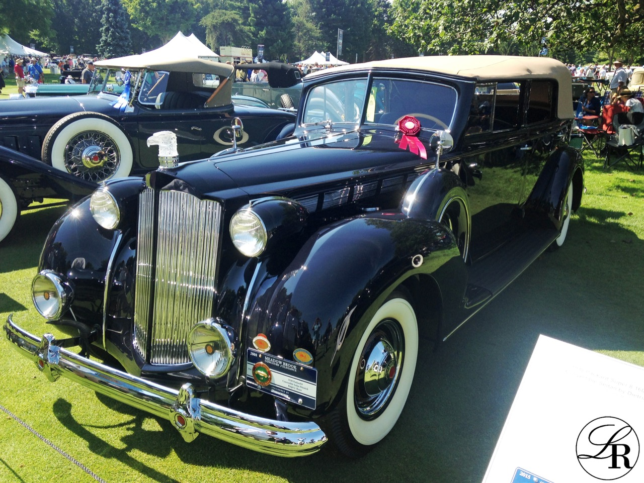 This LaVine Restorations restored 1938 Packard Model 1605 Four Door Convertible Sedan took a Class Award in the American Classic Open Class.