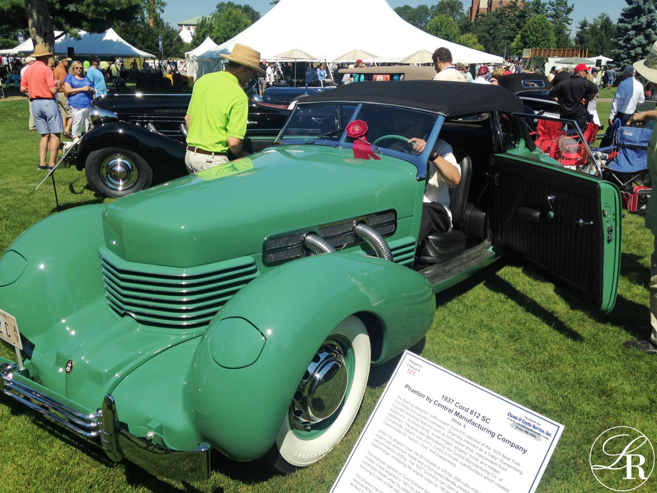 This LaVine Restorations restored 1937 Cord 812 Supercharged Phaeton took a Class Award in the ACD Class.